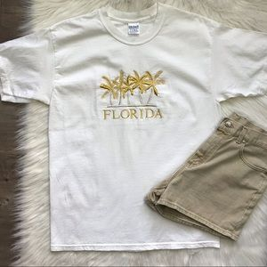 Vintage Florida graphic tee embroidered size L